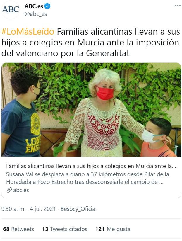 Pues no sé qué es peor... que aprendan valenciano y castellano, o que estudien en Murcia y no aprendan ninguna de las dos :D