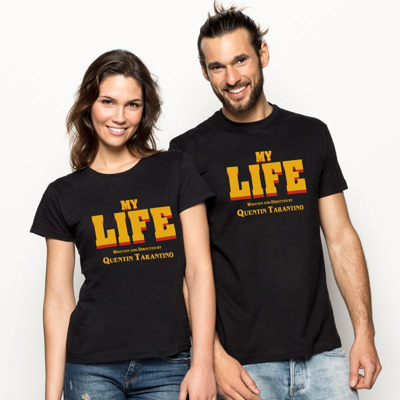 Camiseta MY LIFE: Written and Directed by Quentin Tarantino