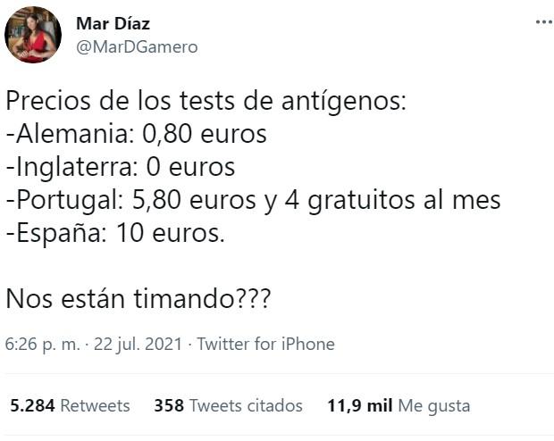 En España siempre lideramos la tabla... de precios.