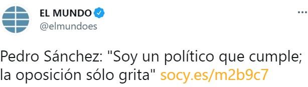 """""""Me defino como un político que cumple, y la oposición solo grita"""""""