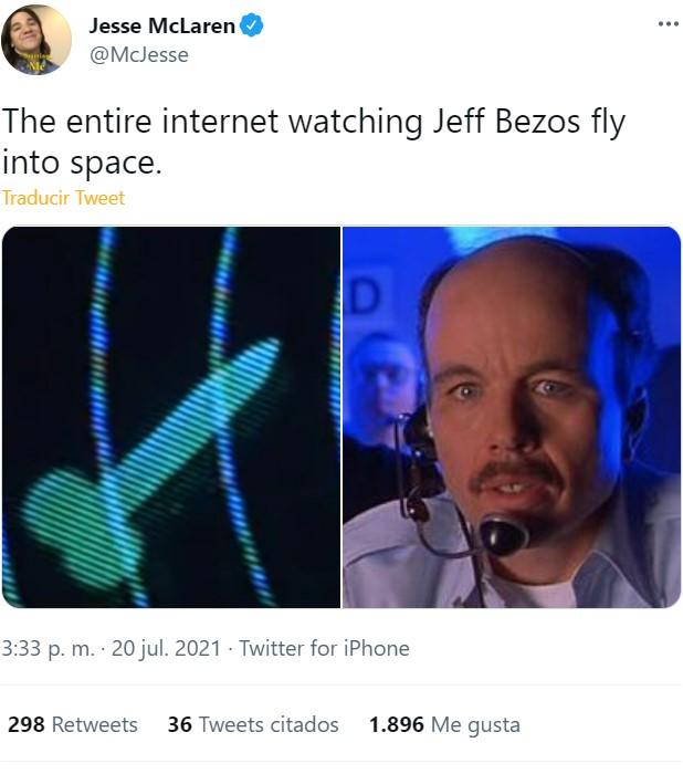Jeff Bezos viaja al espacio en una nave con forma de poIIa