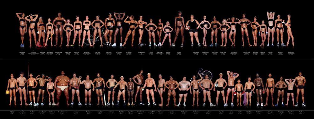 Variaciones corporales de los atletas olímpicos y profesionales by Howard Schatz