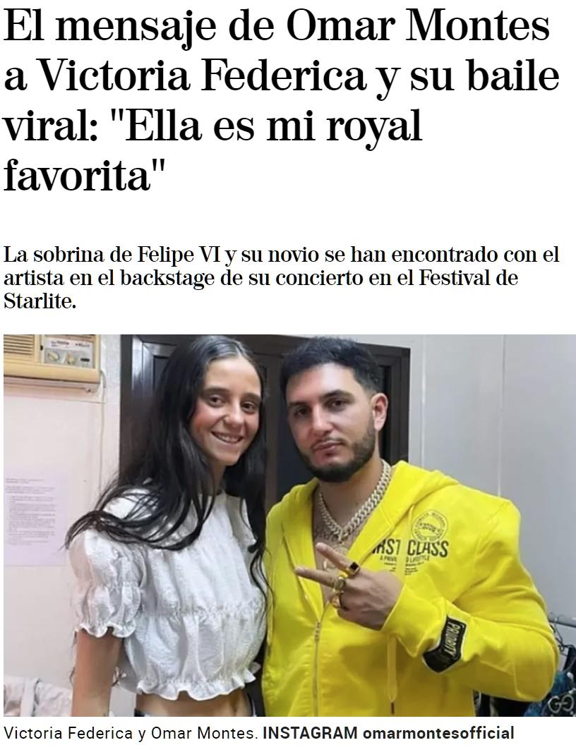Victoria Federica y Omar Montes se marcan un bailecito tumoral