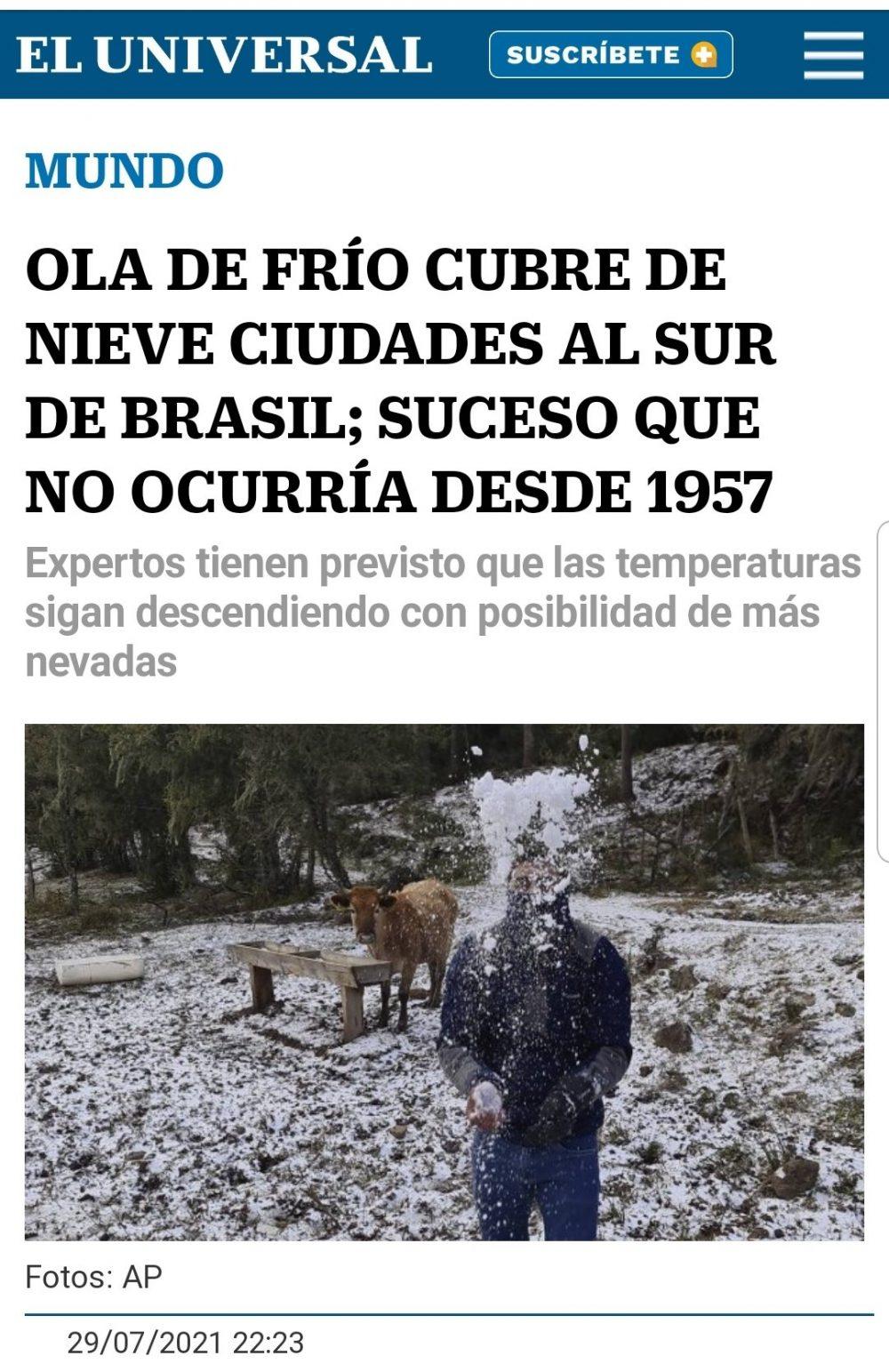 Que alguien le diga a la ministra que ahora mismo es invierno en Brasil...