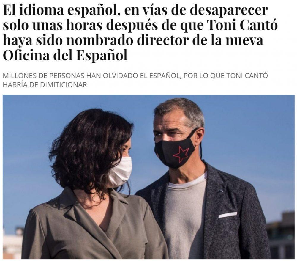 Se estrena bien Toni Cantó como director de la oficina del idioma Español