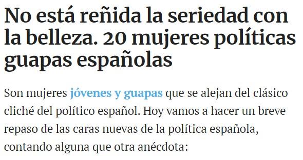"""""""Las 20 políticas españolas más guapas"""""""