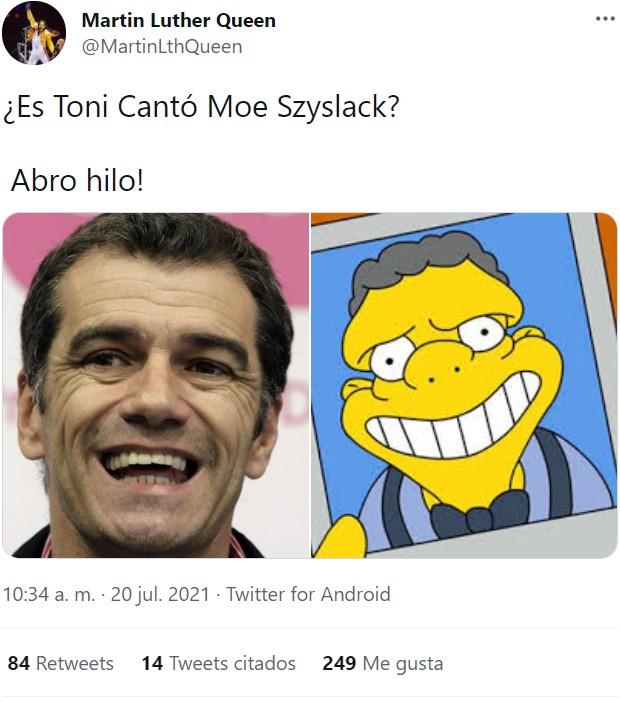 ¿Es Toni Cantó Moe Szyslack?