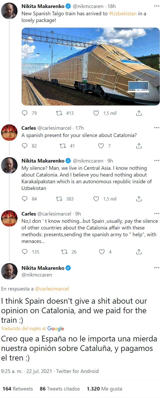 """""""¿Un regalo por vuestro silencio sobre Cataluña?"""""""