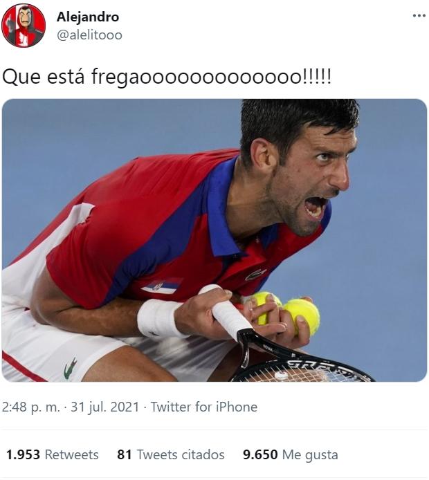 Novak Djokovic se desquicia al perder el bronce ante Pablo Carreño