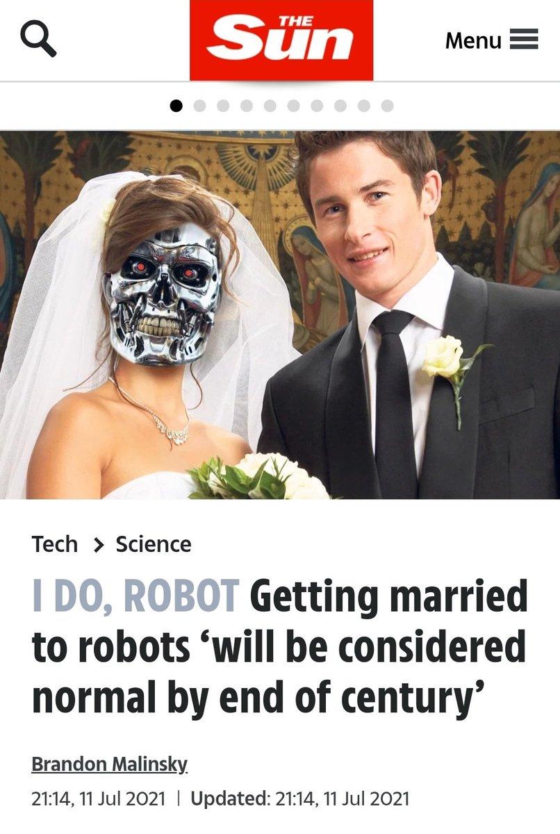 Casarse con robots será considerado normal a finales de este siglo