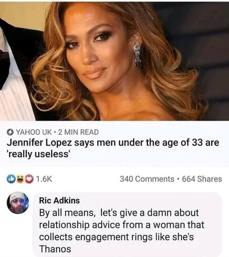 Jennifer Lopez dice que los hombres por debajo de los 33 años son inútiles