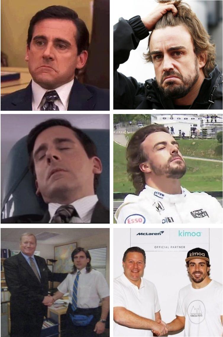Fernando Alonso es Michael Scott.