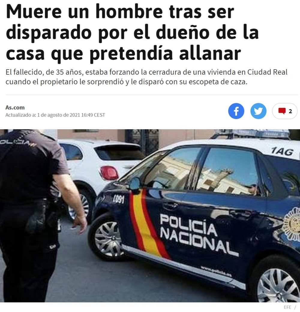 En EEUU sos inimputable, en España...