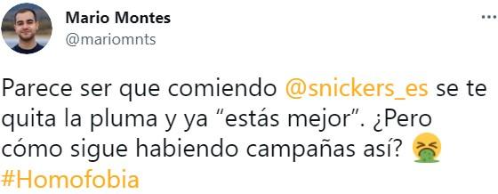 Polémica con el nuevo anuncio de Snickers protagonizado por Aless Gibaja