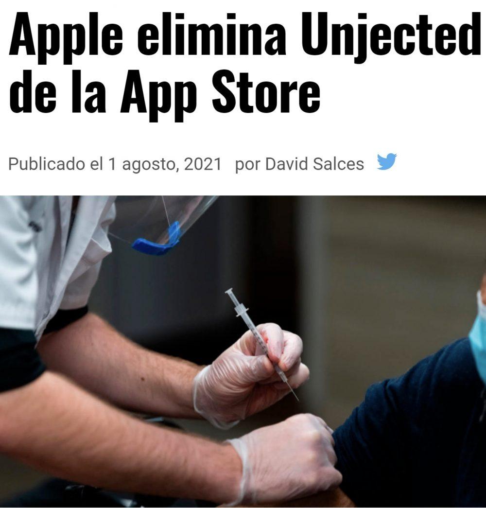 Apple retira Unjected, una app de citas para antivacunas
