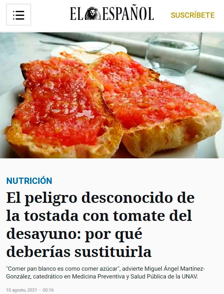 ¿Desayunas tostadas con tomate? Pues... ¡VAS A MORIR!