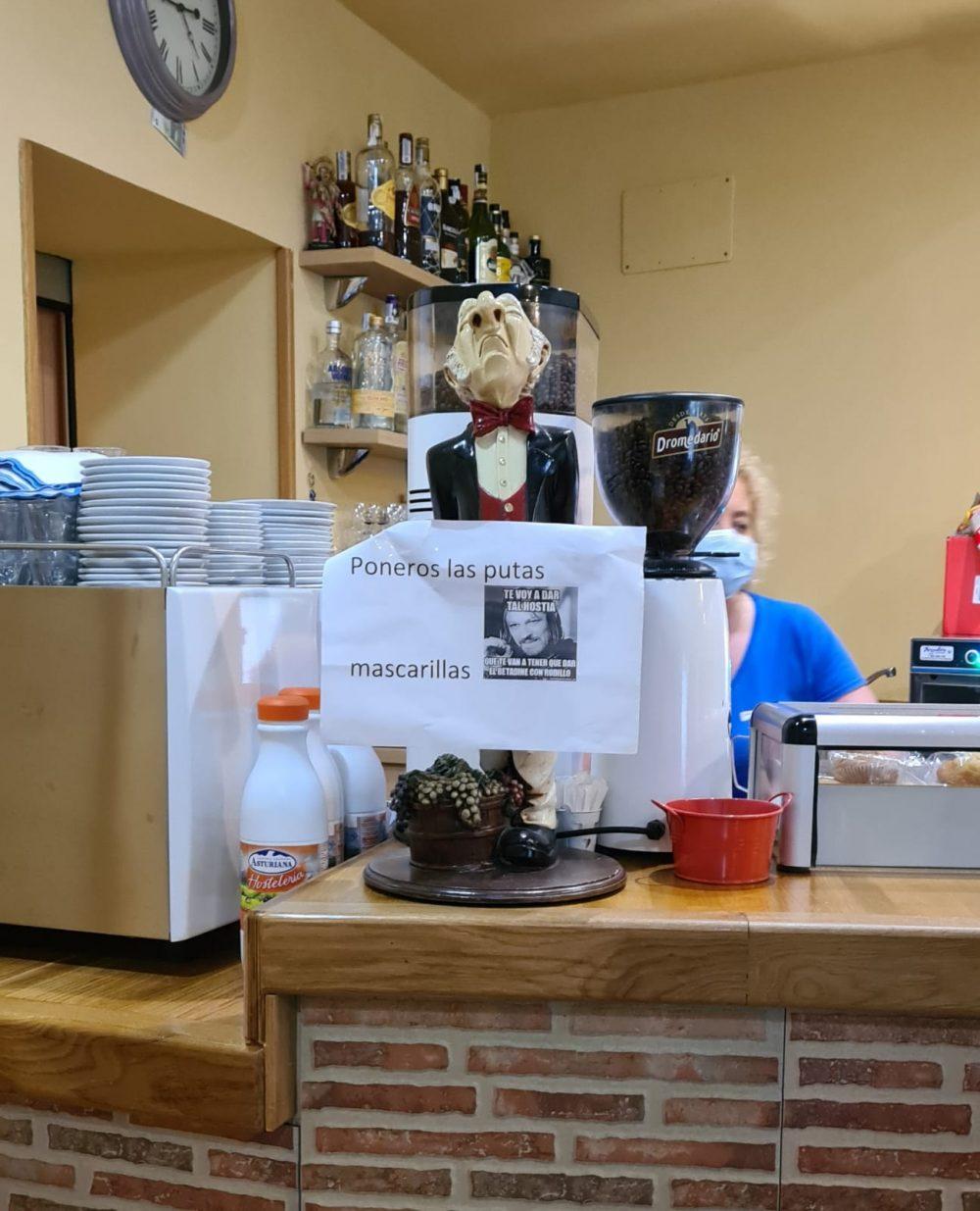 Visto ayer en una cafetería de Cantabria