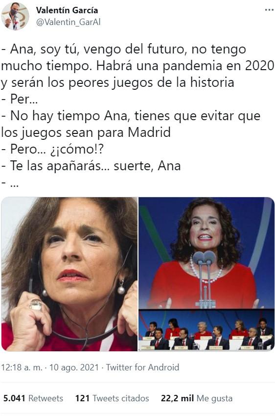 Nunca pensé que diría esto, pero... Gracias, Ana Botella.