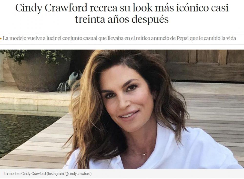Cindy Crawford 1992 vs 2021