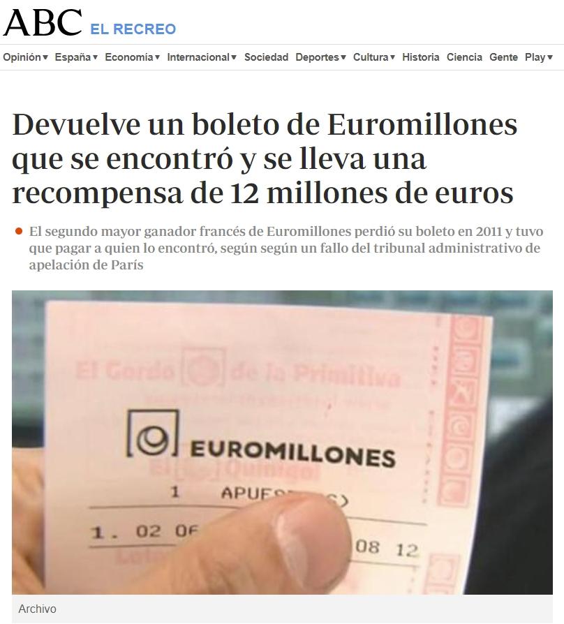 ¿Te imaginas ir andando por la calle y encontrarte 12 millones de euros?