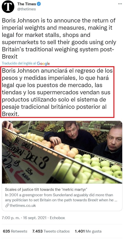 ¡Más avances fruto del Brexit!