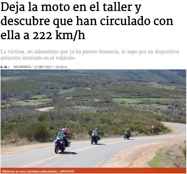 Mecánicos colegas que ponen tu moto a 222km/h para probarla bien bien y que salgan todos los fallos