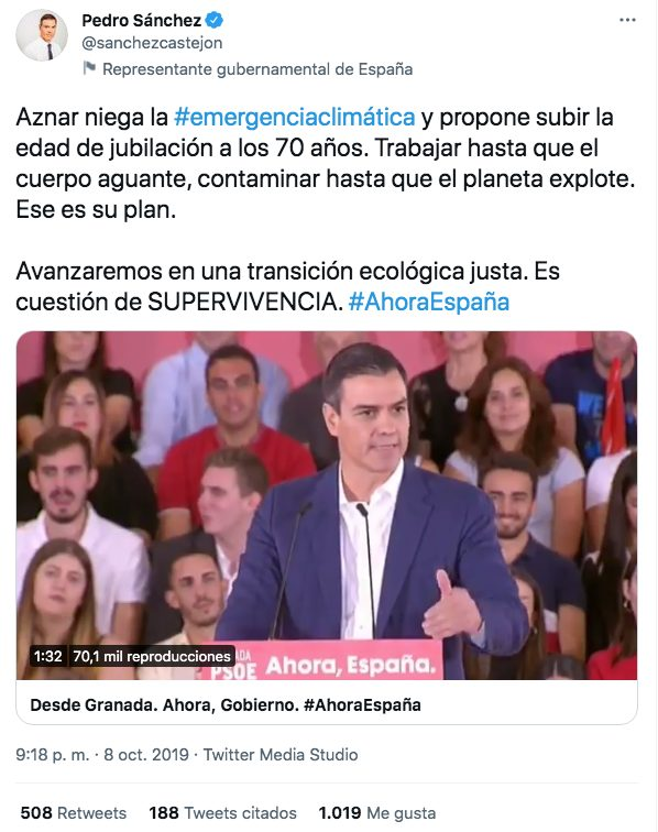 Maldito Aznar que quiere subir la edad de jubilación hasta los 70 años...