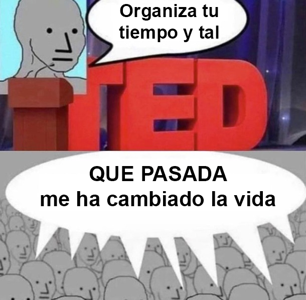 Charlas TED in a nutshell