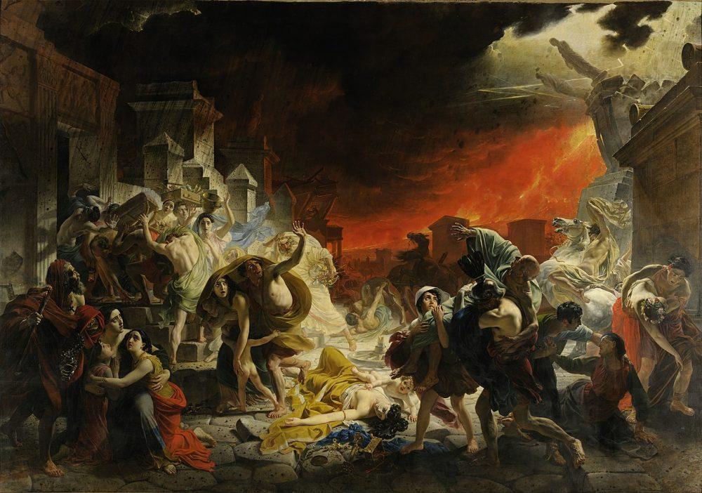 """Buen momento para recordar este vídeo de un artista animando el cuadro """"El último día en Pompeya"""", de Karl Briulov"""