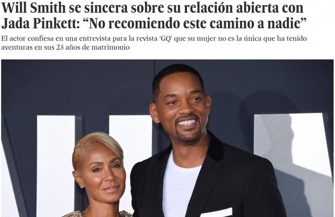 Will Smith habla de su relación abierta