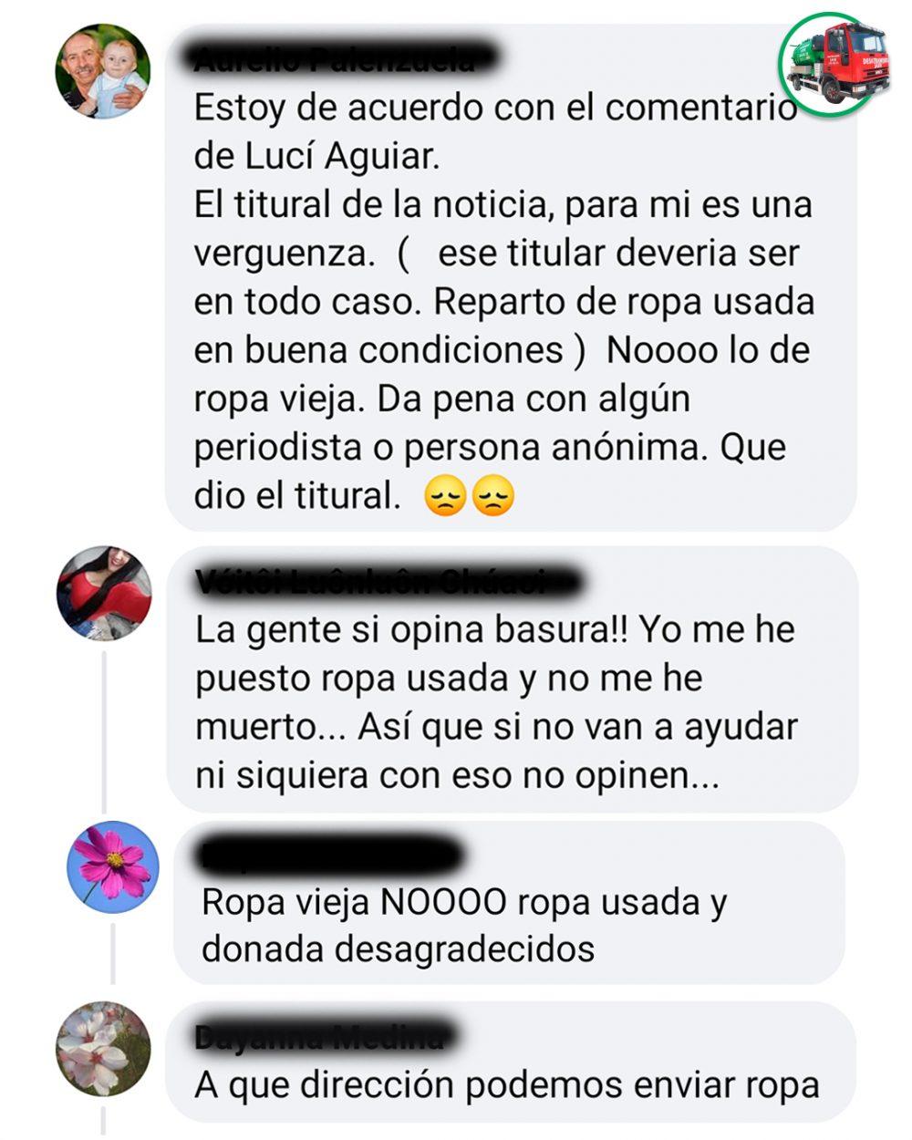 """El drama con la """"ropa vieja"""""""