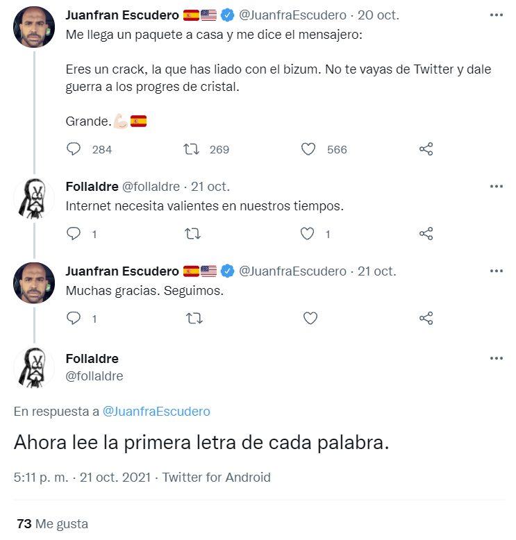 Twitter es ahora mismo un campo de minas para el pobre Juanfran