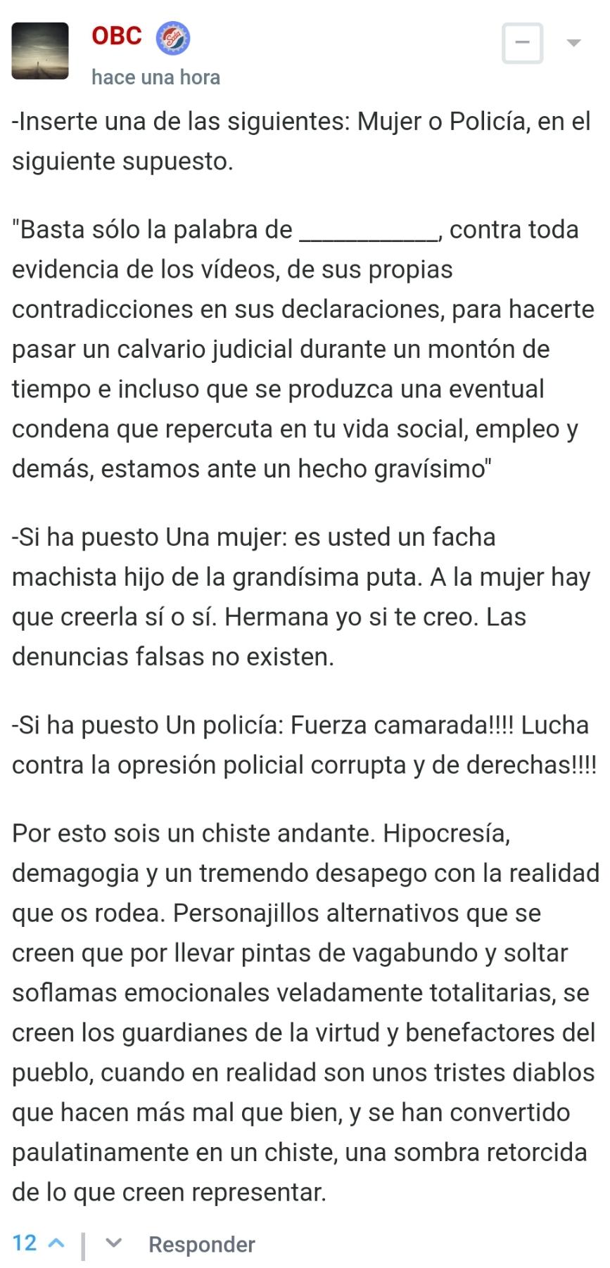 Por fin un diputado de Podemos habla alto y claro de la infame ley de vioIencia de género