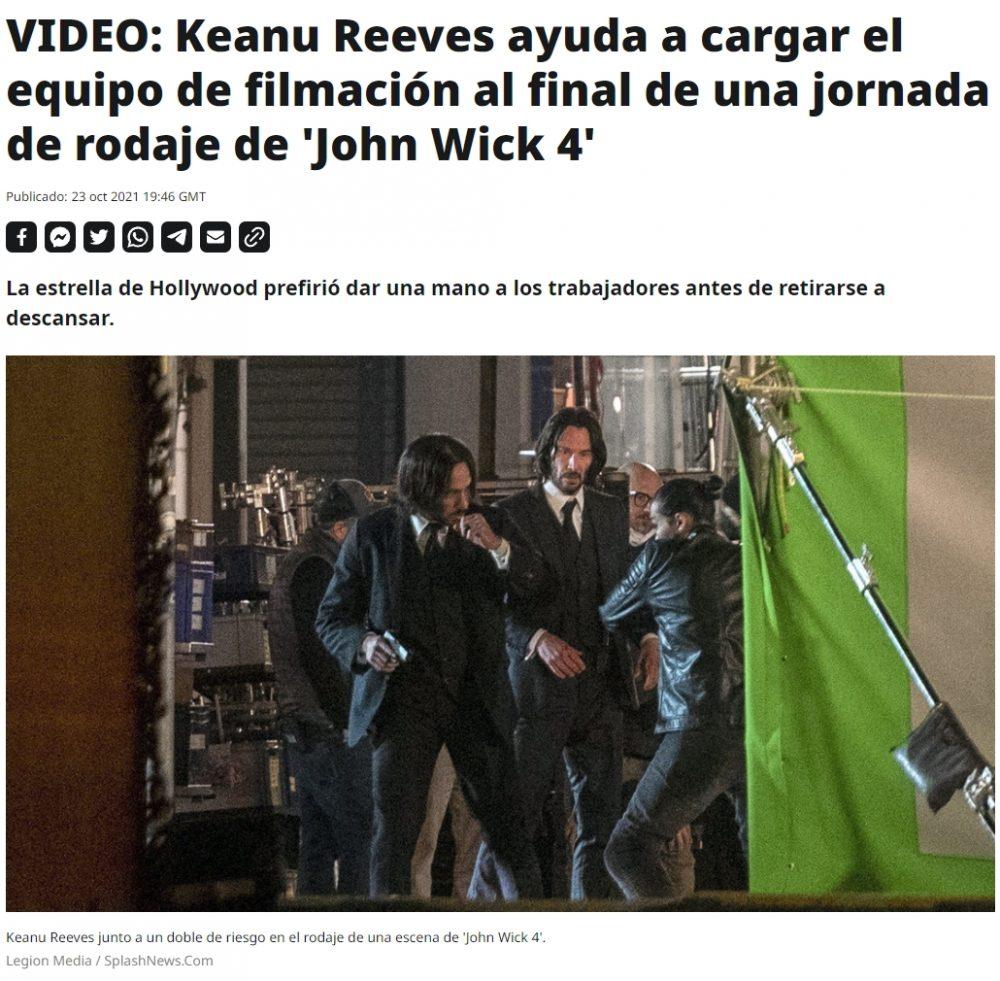 Keanu está empeñado en ganarse un lugar en el cielo entre San Pedro y José Andres (el cocinero colega)