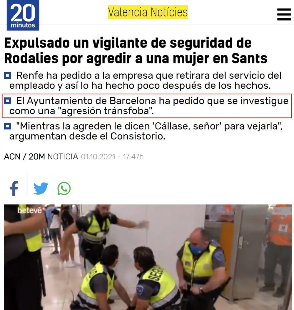 Un agente de seguridad agrede a una mujer en la estación de Barcelona Sants