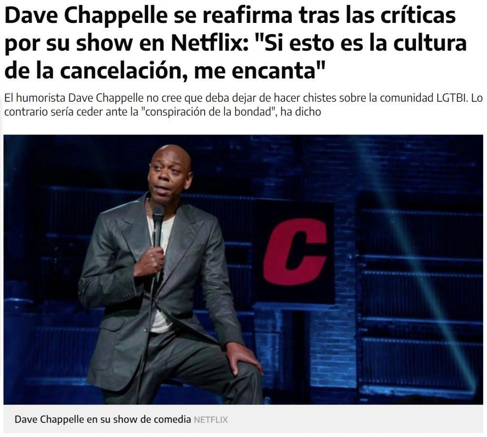 """Debería decir """"me canceláis porque soy negro"""", y el universo implosionaría"""