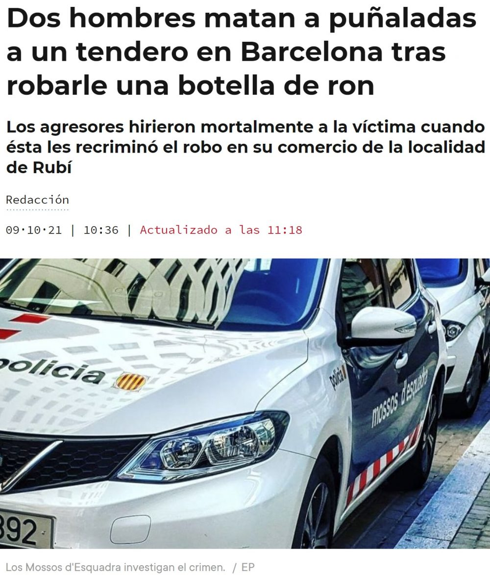 Warcelona: 3 homicidios en 3 días