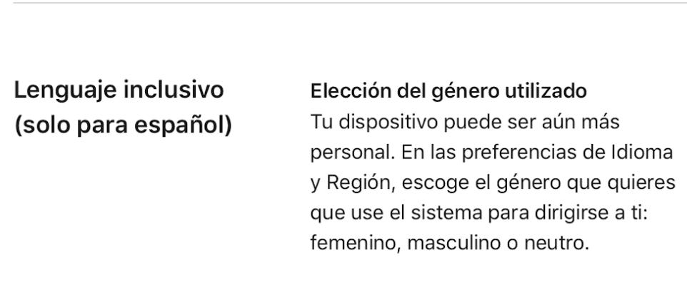 """MacOs actualiza sus textos con """"lenguaje inclusivo"""""""