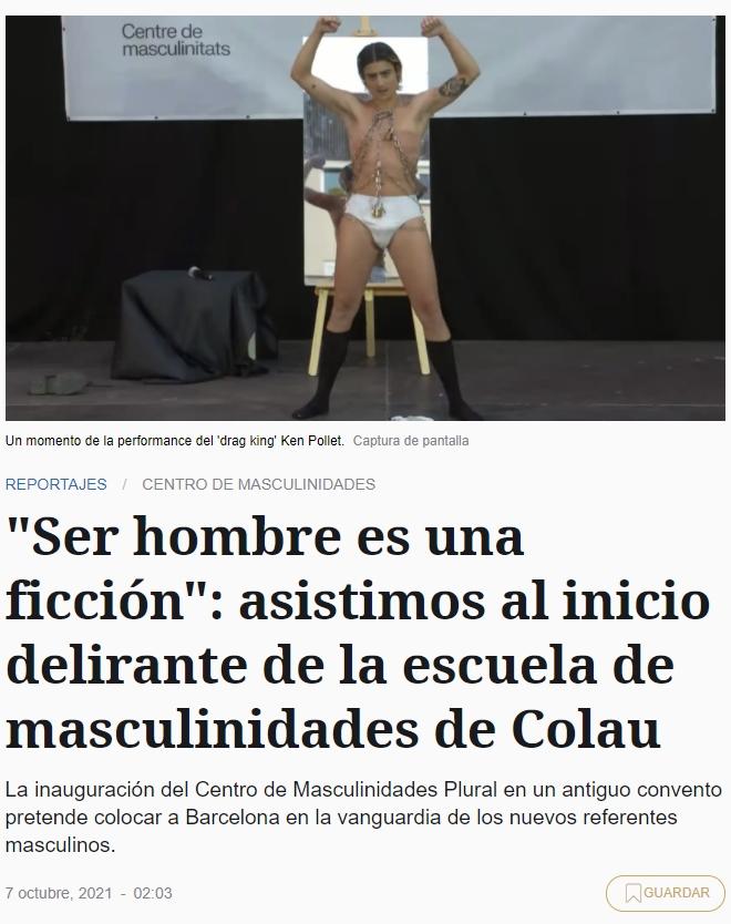 """""""Ser hombre es una ficción"""""""