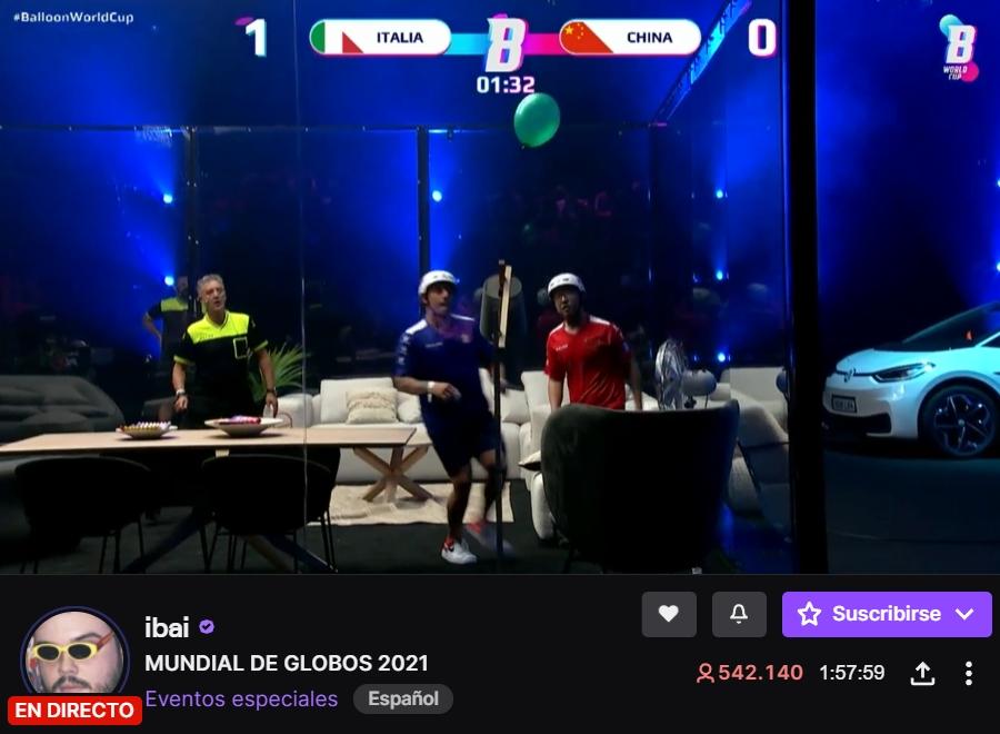 """Más de medio millón de personas están viendo ahora mismo el """"mundial de globos"""" que nació como una broma en el canal de Twitch de Ibai"""