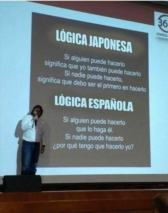Lógica japonesa vs lógica española