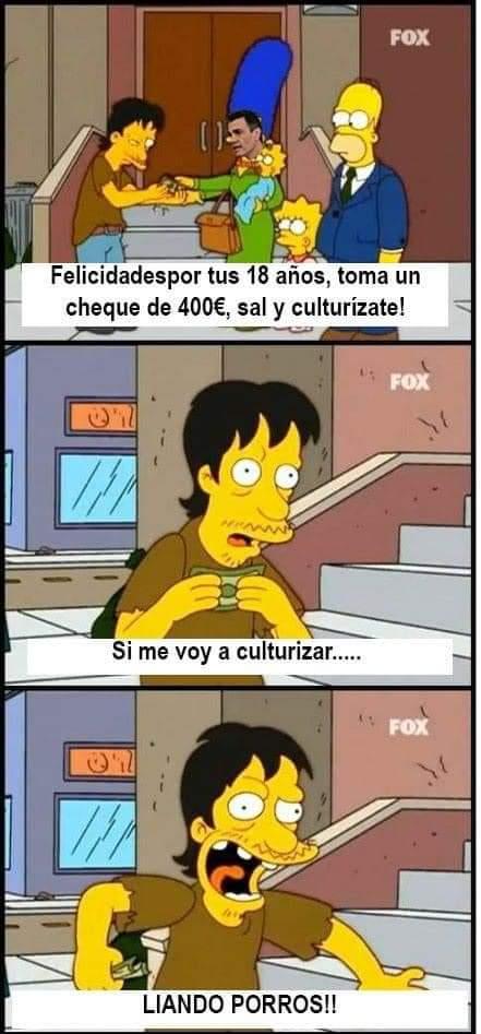 Los Simpson también predijeron el cheque cultural de PDRO SNCHZ