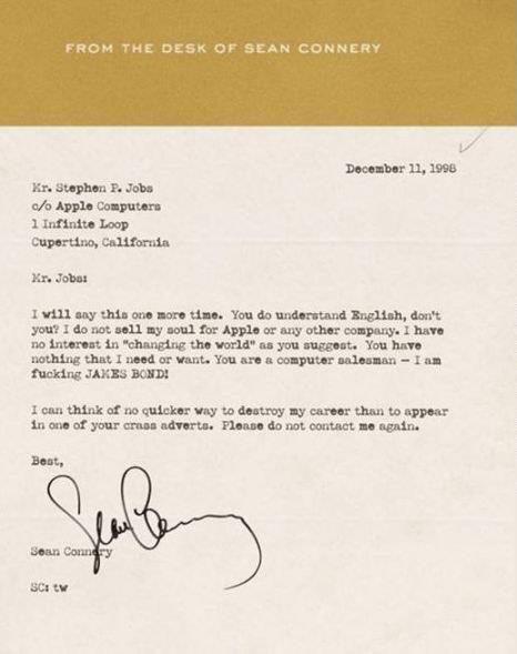 Así lidiaba Sean Connery con Apple en 1996