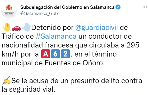 La Guardia Civil pilla a un Porsche 911 Turbo a casi 300km/h en Salamanca