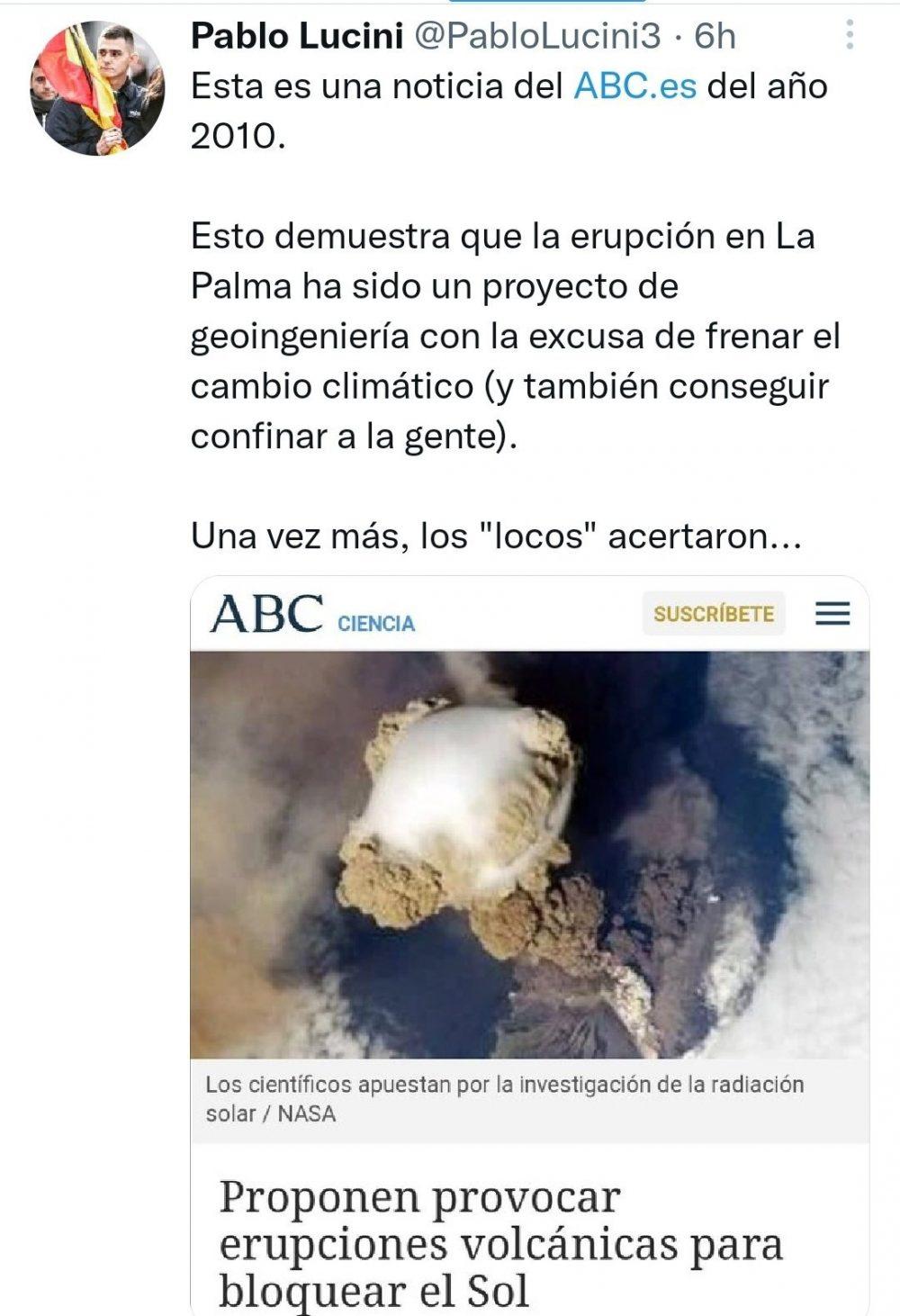 La demostración definitiva de que la erupción ha sido provocada