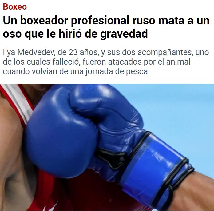 No esperaba menos de un boxeador ruso...