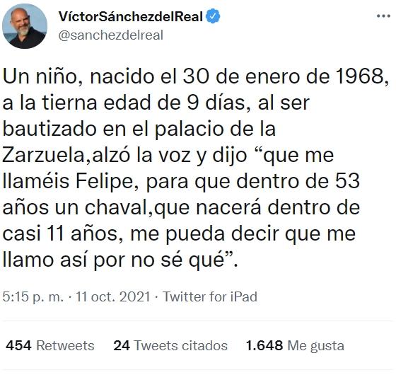 """""""Felipe VI, que DECIDE llamarse igual que Felipe V"""""""