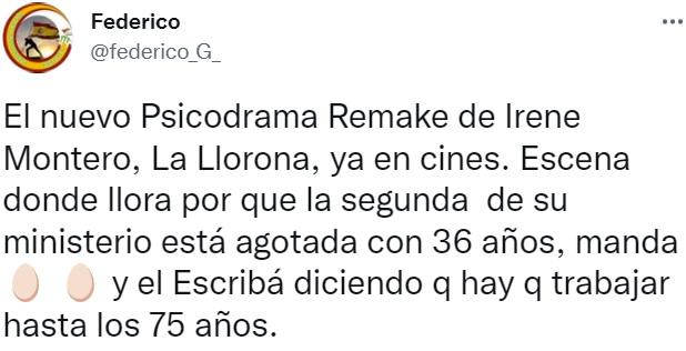 Irene montero llorando again