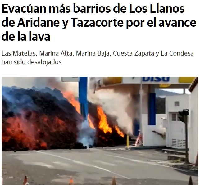 Feligreses rezan en la ladera del volcán de La Palma para que pare la erupción