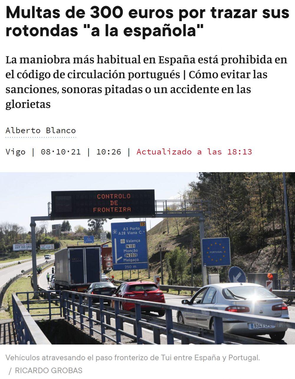 Guerra de rotonding entre España y Portugal